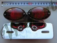 Стоп сигнал хром 2 фары красное стекло