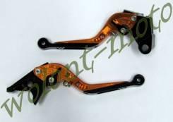 Рычаги откидные в бок Оранжевый Ninja650R(ER-6f/ER-6n)06-08/ZZR600 93-02/ZX6R 95-99/ZZR1100 93-01/ZX
