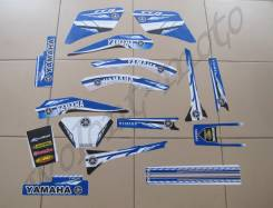 Полный комплект наклеек Синий с белым Yamaha TTR