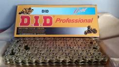 Цепь DID 525-120L золотая с сальниками
