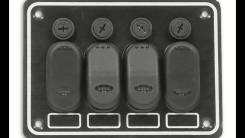 Панель управления на 4 влагозащищенные клавиши, с подсветкой.