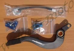 Педаль тормоза кованная Hammerhead Yamaha YZ250F 10-16 Черный с синим 12-0222-21-22