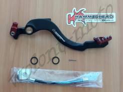 Педаль тормоза кованная Hammerhead Honda CRF450R 02-16 Черный с красным