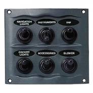Панель управления на 6 влагозащищенных переключателей .