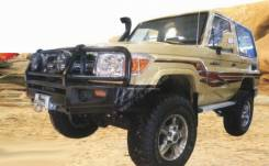 Силовой передний бампер на Toyota Land Cruiser 79 (2007-). По Миру!