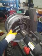 Правка, раскатка колёсных дисков. ремонт боковых порезов шин.