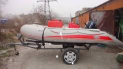 Лодка с подвесным мотором телегой
