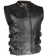 Кожаный жилет Black Bandit Perforated Vest