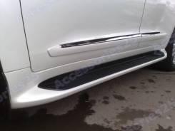 Подножки (пороги) Toyota Land Cruiser 200 с подсветкой в стиле Lexus. Toyota Land Cruiser, URJ202, URJ202W, UZJ200, UZJ200W, VDJ200