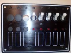 Панель переключателей с индикацией, влагозащищенных на 5 клавиш+ 3 рез