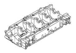 Новый картер двигателя гидроцикла Yamaha FX 6CS-15100-11-00