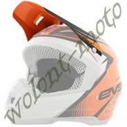 Козырек для шлема EVS T5 GP Оранжевый с черным с белым HT5GP-VSOR