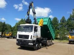 КМУ Ломовоз МАЗ-6312С5-8429-012, кузов 30 куб., Майман-110S, захват ТЛ, 2019