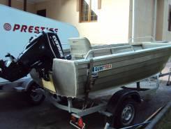 Лодка QWiintrex 420  и румпельный мотор Evinrude 30 E-tec + прицеп