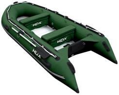 Лодка надувная ПВХ HDX Oxygen 390, с алюминиевым пайолом, зелёная