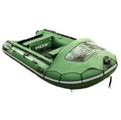 Надувная лодка ПВХ HDX Helium 300 Am, многобаллонное дно, зелёная