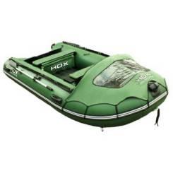 Надувная лодка ПВХ HDX Helium 370 Am, многобаллонное дно, зелёная