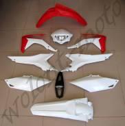 Комплект пластика Polisport Honda CRF250X 14/CRF450X 13-16 Красно-белый 90566
