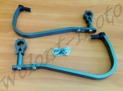 Защита рук/ручек на толстый руль 28,6 Темно серый Accel (Taiwan) HG-02 Titanium