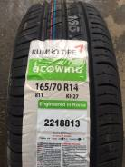 Kumho Ecowing ES01 KH27, 165/70R14