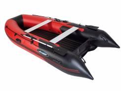 Лодка Gladiator E330LT с надувным дном низкого давления Красно-черная