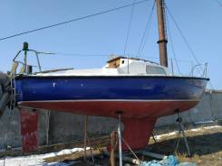 Парусная яхта Нефрит. Длина 7,40м., 1973 год год