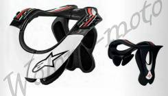 Защита шеи ALPINESTARS BNS PRO размер:L/XL черно-бело-красная