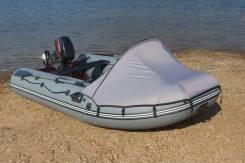 Тент носовой без окна на лодку ПВХ 3,6 серый камыш