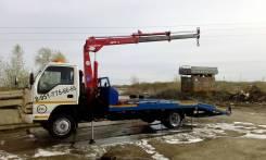 Продам эвакуатор Isuzu NQR71 с КМУ  и ломанной платформой 5.8 метров!