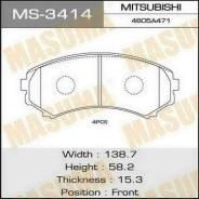 Колодки тормозные передние Masuma MS3414 MMC