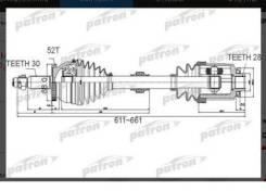 Привод полуось перед право Hyundai Santa FE 09 49500-2B610