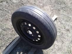 "Одно колесо 165/70R13 на штамповке (сверловка 4*100). 5.0x13"" 4x100.00 ET35 ЦО 56,0мм."