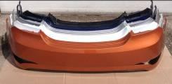Бампер задний Hyundai Solaris 2014-2016 (в цвет кузова) [рестайлинг]