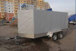 Большой легковой прицеп с тентом внутренние размеры 4 м на 1.8 м