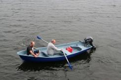 Новая вместительная пластиковая лодка Волга-Фиорд