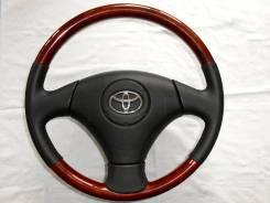 Оригинальный обод руля с косточкой под дерево Toyota / Lexus