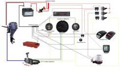 Установка и ремонт электрооборудования, навигации для катеров и яхт .