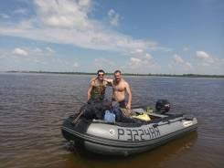 Продам лодку пвх Golfstream с мотором 15 л. с.