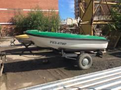 Продам пластиковую лодку с трансом под мотор с прицепом