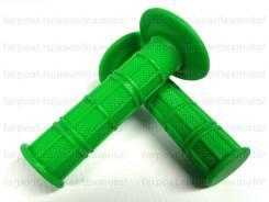Мото Грипсы мягкие для кроссовых и эндуро мотоциклов (зелёный)