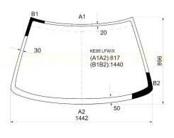 Стекло лобовое в клей Toyota Corolla Levin / Sprinter Trueno Coupe 87-