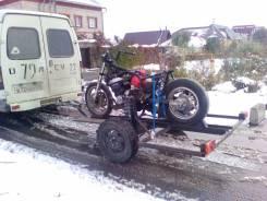 Прицеп для перевозки мотоцикла.