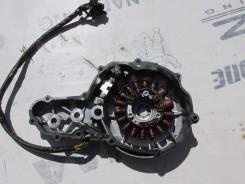 (№173) Крышка картера левая с катушкой в сборе Suzuki DR 250 1996г
