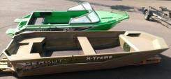 Алюминиевая лодка Berkut X-Treme, плоское дно, тоннель