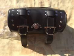 Мото сумка кофр на багажник кожаный Harley Davidson (1)