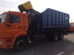 КМУ Ломовоз КамАЗ-65115-3094-48 (Евро-5), кузов 30 куб., Майман-110S, за