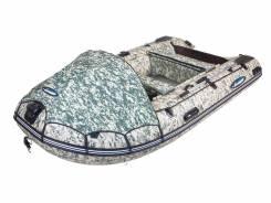 Лодка Gladiator C420AL Алюмин. Пайол + ТЕНТ + ПВХ 1100 Камуфляж Цифра