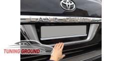 Накладка на заднюю дверь Land Cruiser 200 под цвет автомобиля + хром