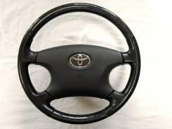 Оригинальный руль с косточкой под черное дерево Toyota