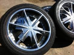 Комплект хром дисков Strada R20, 8.5+15, 5x114.3, 5x120